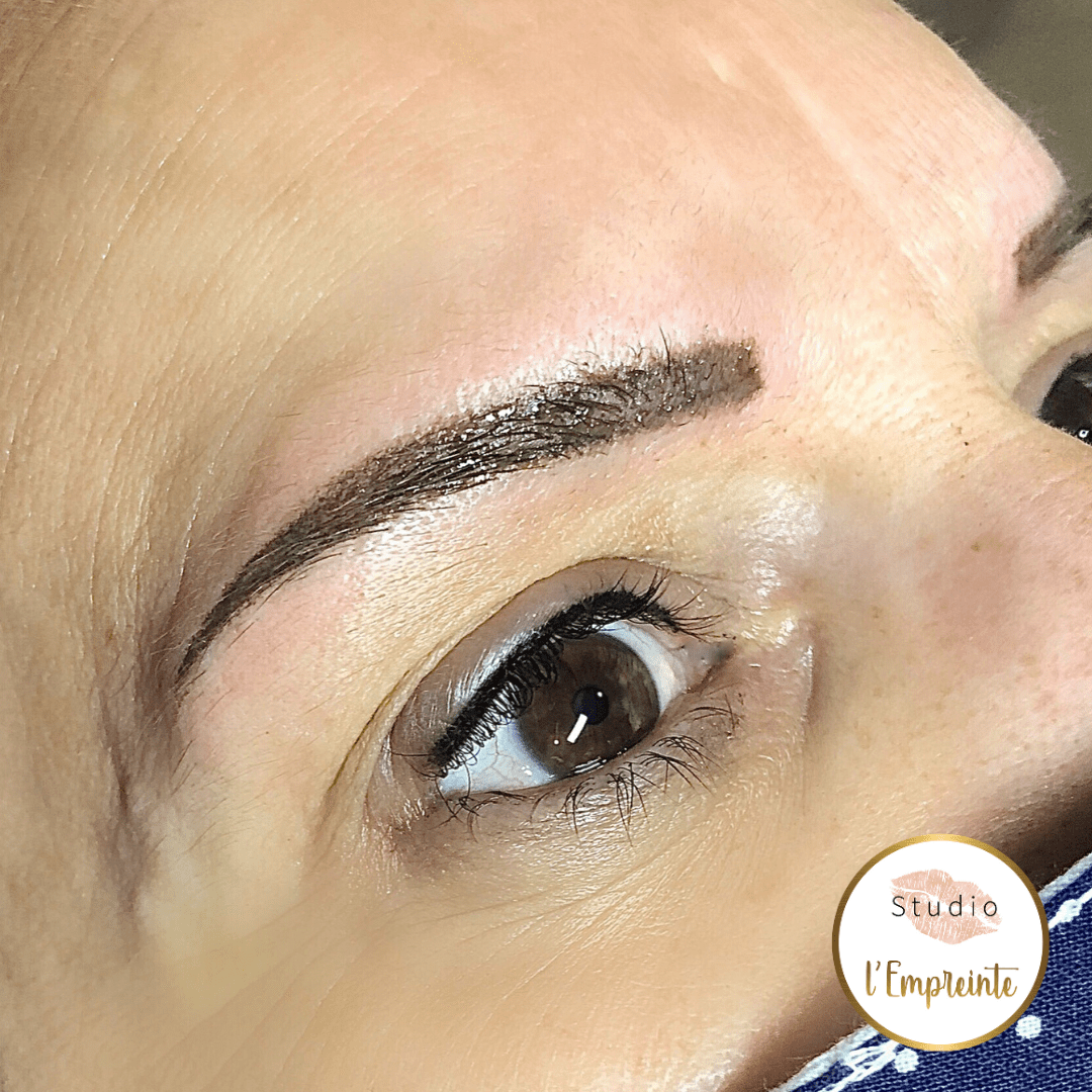 sourcils shading maquillage permanent